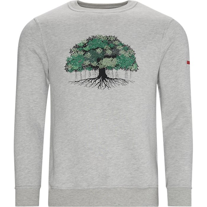 Tree Crewneck Sweatshirt - Sweatshirts - Regular - Grå